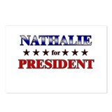 NATHALIE for president Postcards (Package of 8)