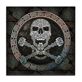 Skull & Crossbones Knotwork Tile Coaster
