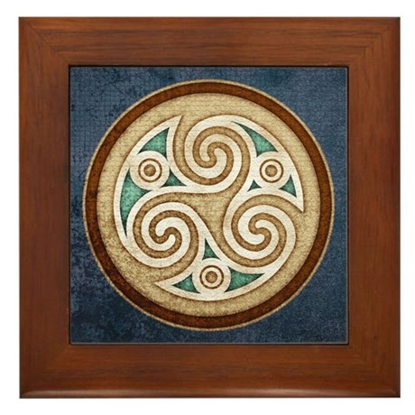 Pale Triskele Framed Tile