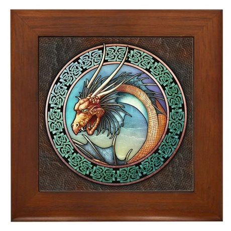 Sea Dragon Framed Tile