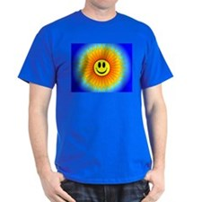Colorful Sunburst Smiley Face T-Shirt