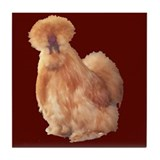 Buff Silkie Tile Coaster