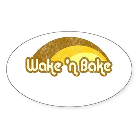 Wake 'n Bake Oval Sticker