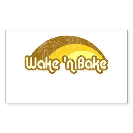 Wake 'n Bake Rectangle Sticker