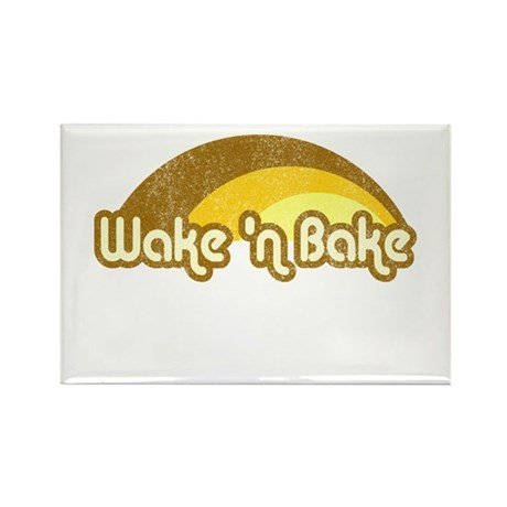 Wake 'n Bake Rectangle Magnet