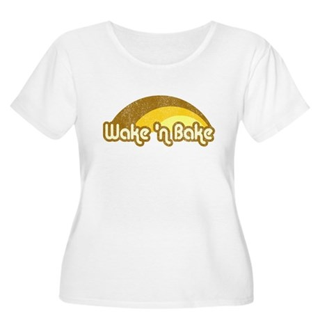 Wake 'n Bake Plus Size Scoop Neck Shirt