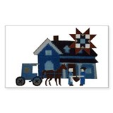 Amish People Rectangle Decal