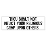 Anti-Religious Bumper Car Sticker