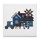 Amish People Tile Coaster