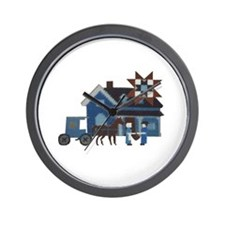 Amish People Wall Clock