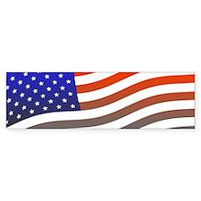 Patriotic American Flag Bumper Bumper Sticker