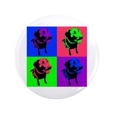 "Unique Labrador art 3.5"" Button (100 pack)"