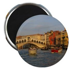 "Venice Italy, Rialto Bridge photo- 2.25"" Magnet (1"