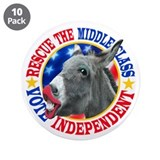 "RESCUE the MIDDLE CLASS 3.5"" Button (10 pack)"