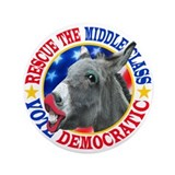 "RESCUE the MIDDLE CLASS 3.5"" Button (100 pack)"