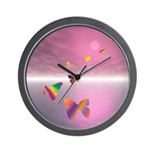 Butterfly Ocean Wall Clock