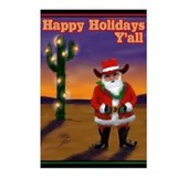 Western Santa Postcards (Package of 8)