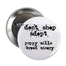 Don't Shop, Adopt - Button