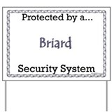 Briard Security  Yard Sign