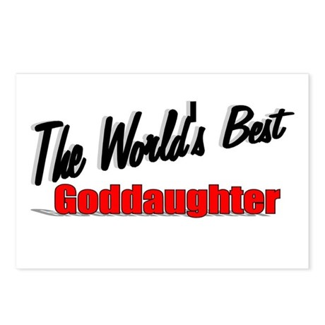 """The World's Best Goddaughter"" Postcards (Package"