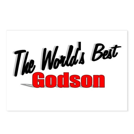 &quot;The World's Best Godson&quot; Postcards (Package of 8)