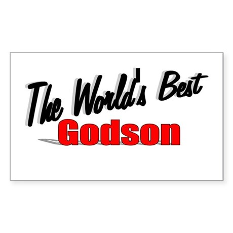 &quot;The World's Best Godson&quot; Rectangle Sticker