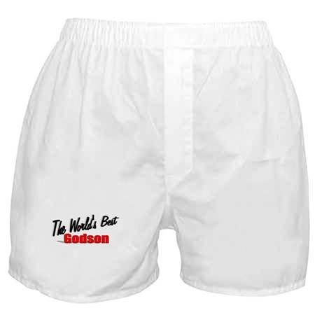 &quot;The World's Best Godson&quot; Boxer Shorts