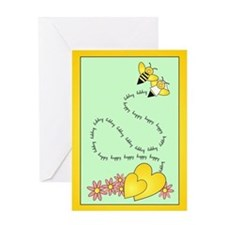Bee Wedding Greeting Card