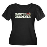 Master Gardener Women's Plus Size Scoop Neck Dark