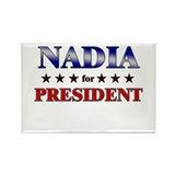 NADIA for president Rectangle Magnet (10 pack)