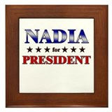 NADIA for president Framed Tile