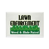 Lawn Enforcement Rectangle Magnet