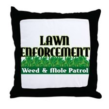 Lawn Enforcement Throw Pillow