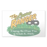 Lawn Ranger Rectangle Decal