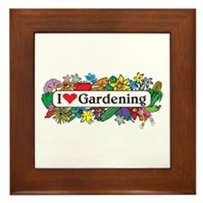 I Heart Gardening Framed Tile