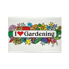 I Heart Gardening Rectangle Magnet (10 pack)