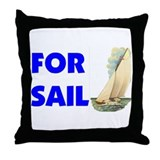 FOR SAIL Throw Pillow