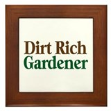 Dirt Rich Gardener Framed Tile