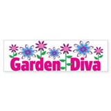 Garden Diva Bumper Car Sticker