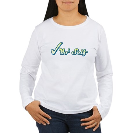 Check Yo' Self (Vintage) Womens Long Sleeve T-Shi