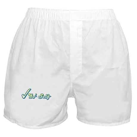 Check Yo' Self (Vintage) Boxer Shorts