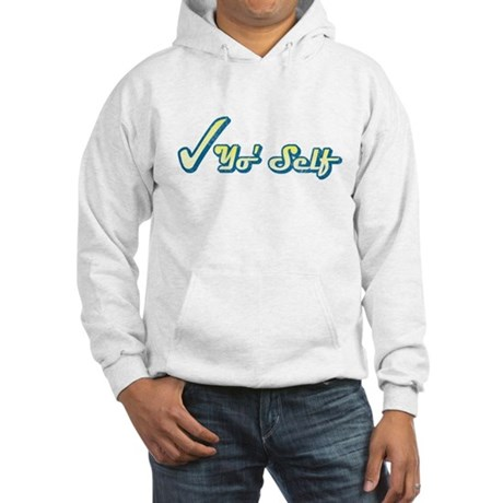 Check Yo' Self (Vintage) Hooded Sweatshirt