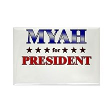 MYAH for president Rectangle Magnet (10 pack)