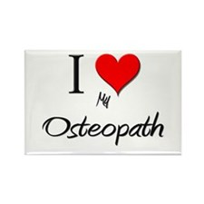 I Love My Osteopath Rectangle Magnet (10 pack)