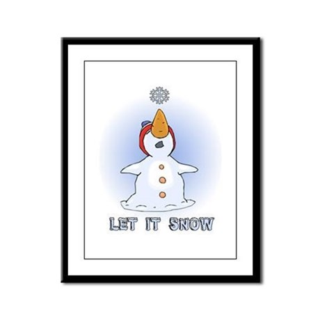 Let it Snow Framed Panel Print