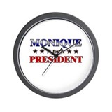MONIQUE for president Wall Clock