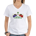 Feliz Navidad Women's V-Neck T-Shirt