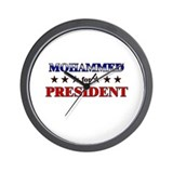 MOHAMMED for president Wall Clock
