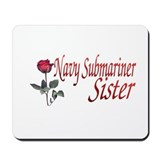 navy submariner rose Mousepad