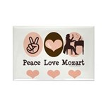 Peace Love Mozart Rectangle Magnet (100 pack)